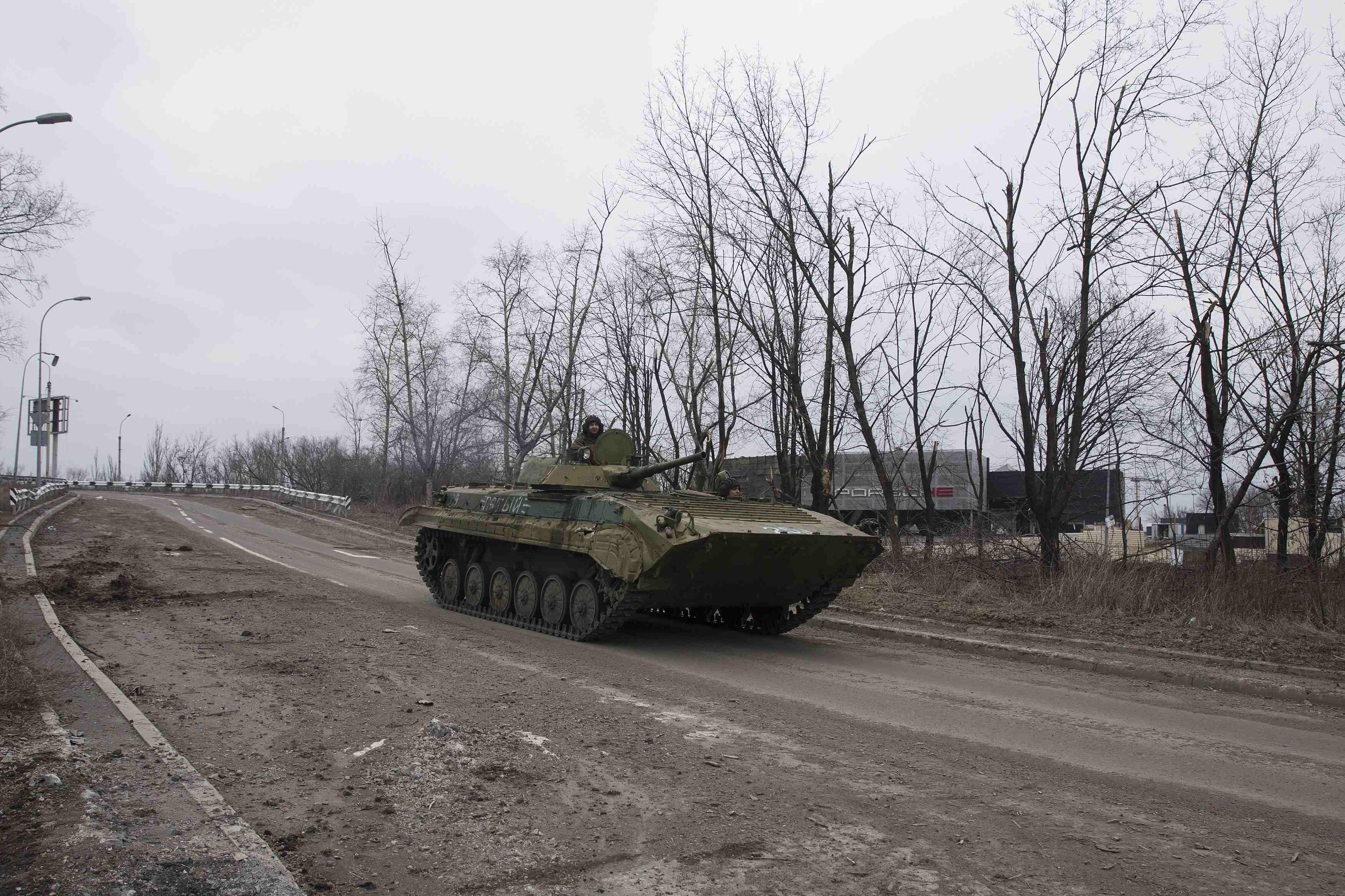 Боевики под Донецком