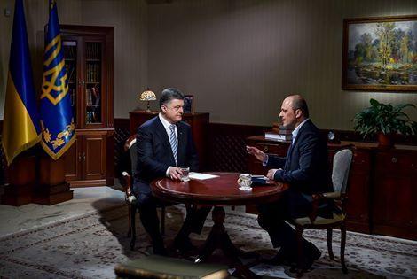 Порошненко дал интервью генеральному директору Национальной телекомпании Украины