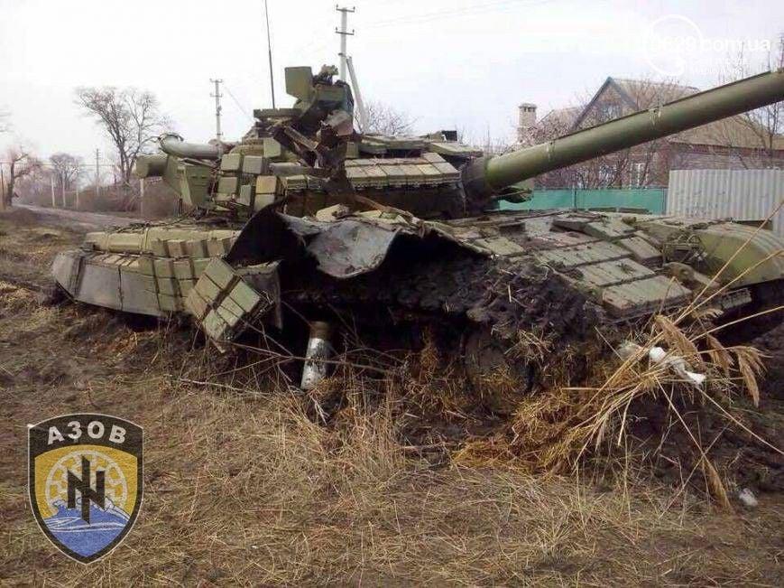 Подбитый танк боевиков на Донбассе, иллюстрация