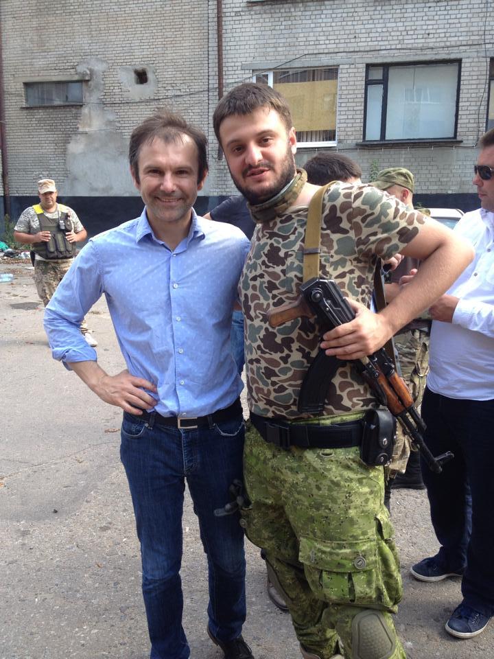 Сын Авакова Александр и Святослав Вакарчук