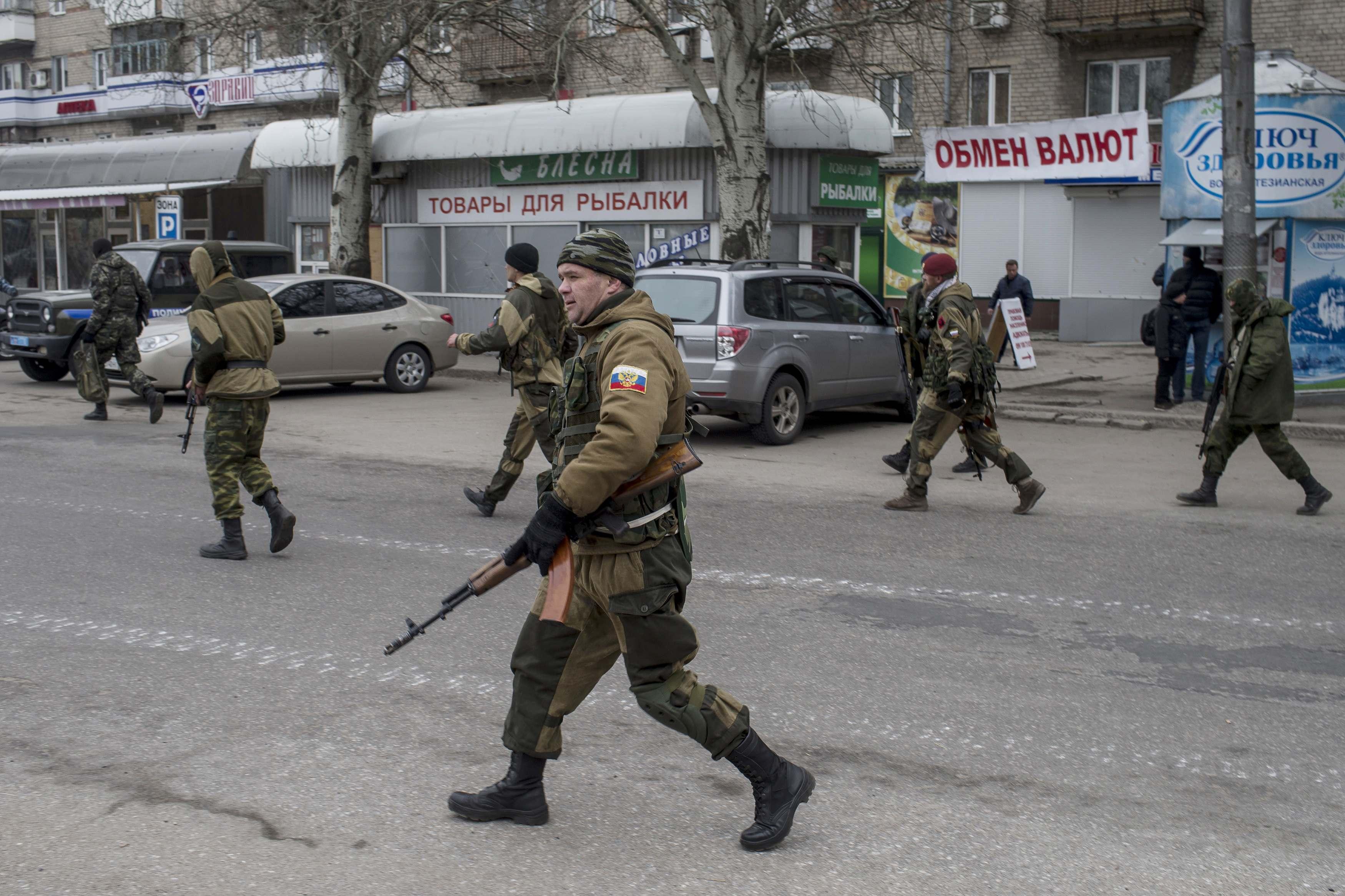 Боевики ДНР, иллюстрация.