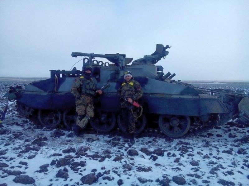 Украинские бойцы на Донбассе, иллюстрация
