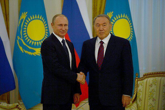 Путин и Назарбаев в Астане