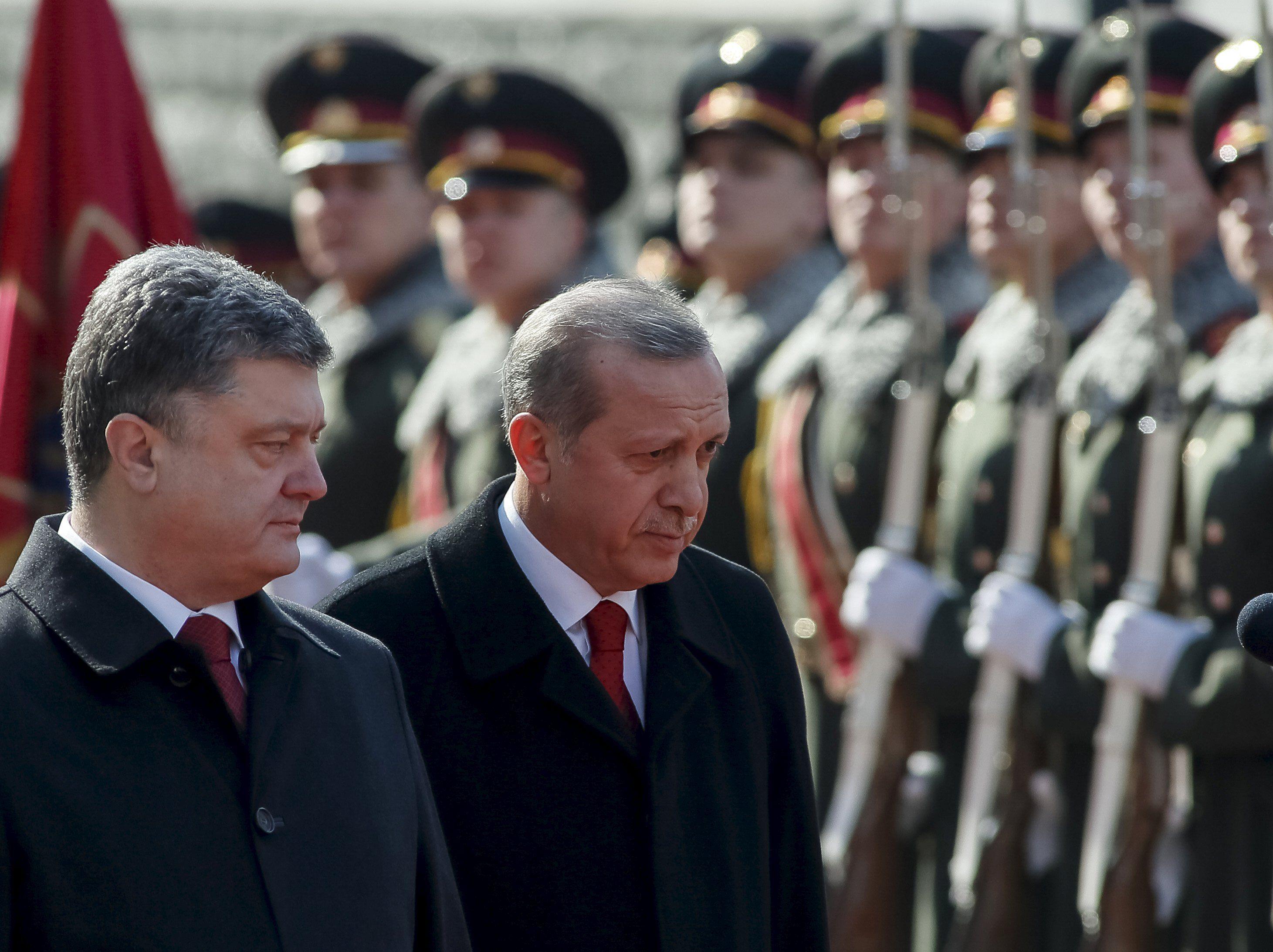 Петр Порошенко и Реджеп Таип Эрдоган