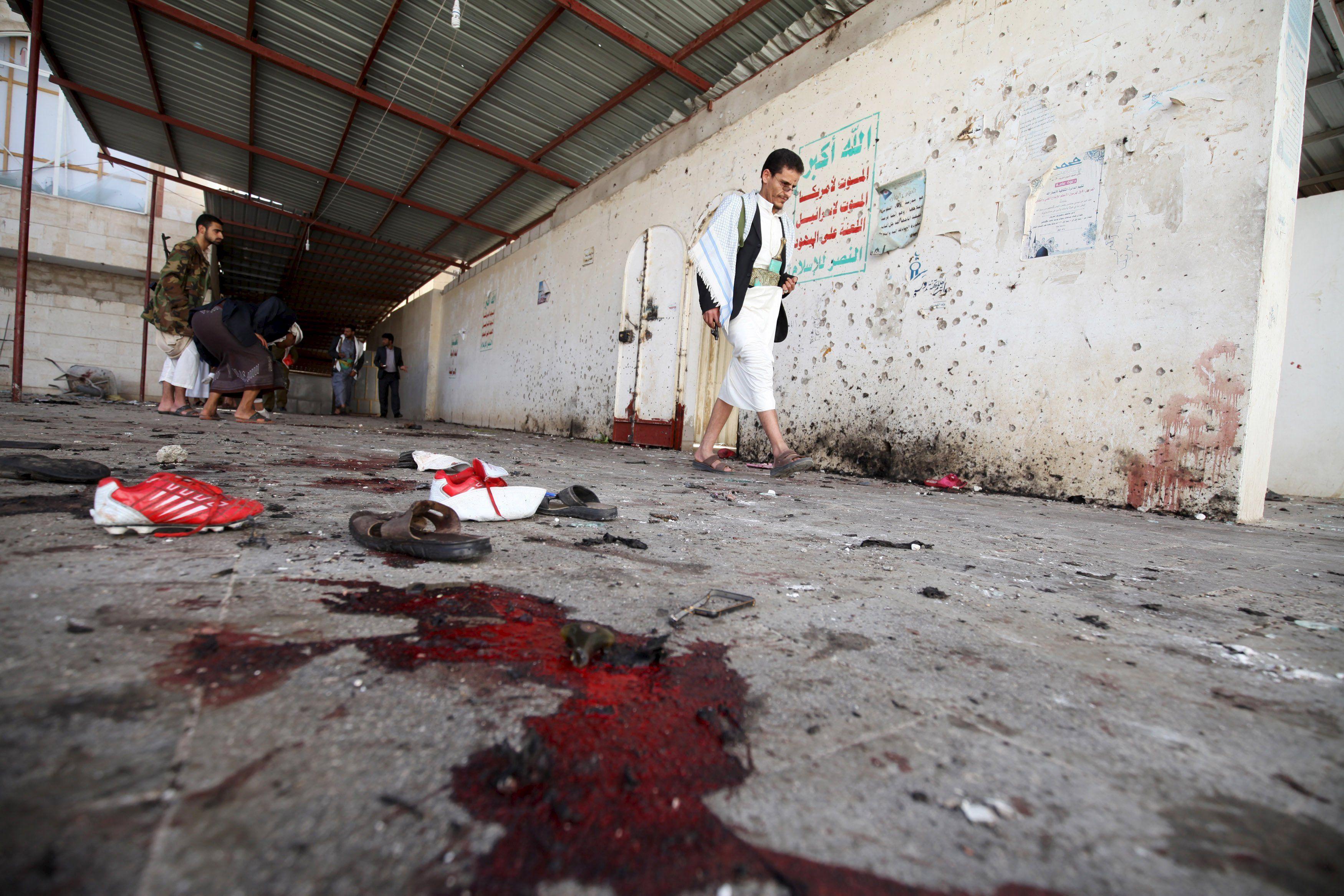 Фото с места теракта в одной из мечетей