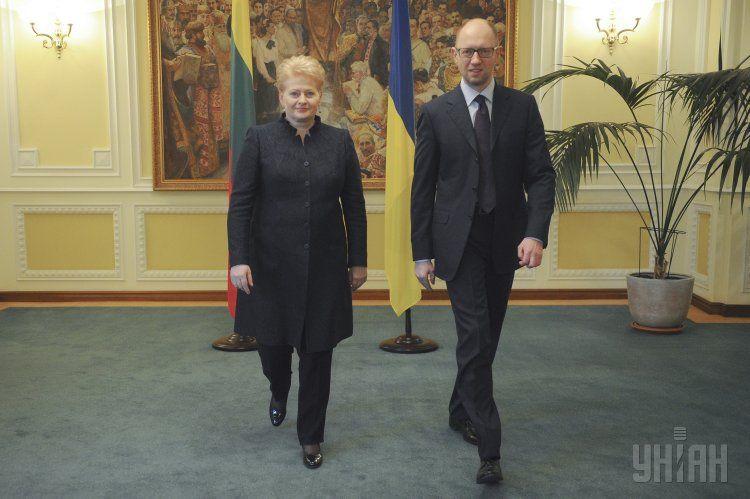 Даля Грибаускайте и Арсений Яценюк