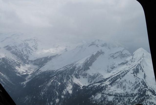Крушение самолета в Альпах, иллюстрация