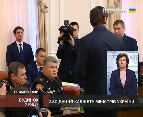 Во время заседания Кабмина задержали главу ГосЧС