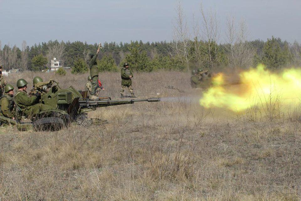 Украинские десантники на учениях, иллюстрация