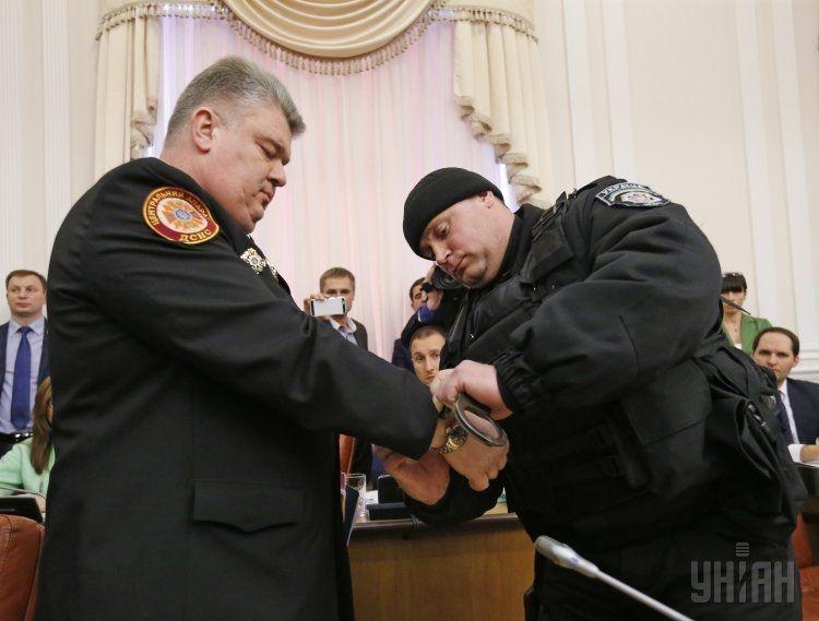 Задержание Сергея Бочковского