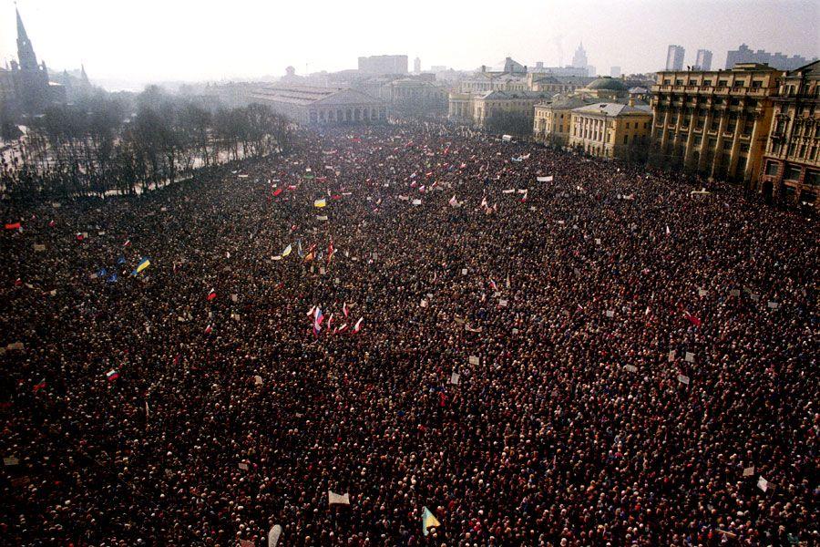Массовый митинг в Москве, иллюстрация
