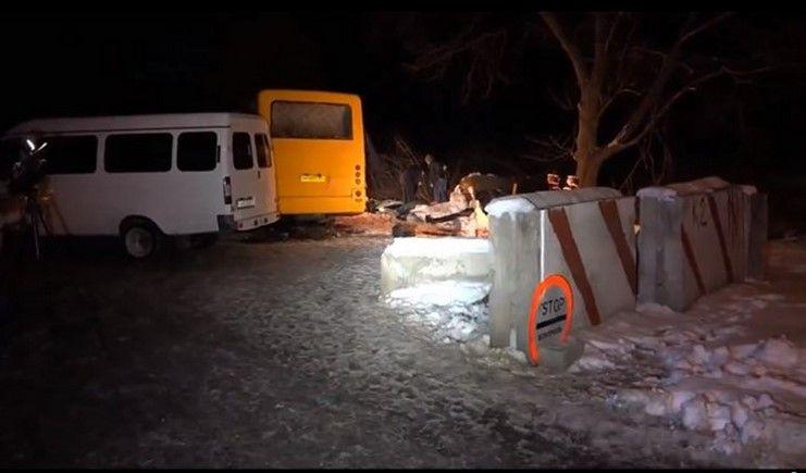 На мине подорвался пассажирский автобус