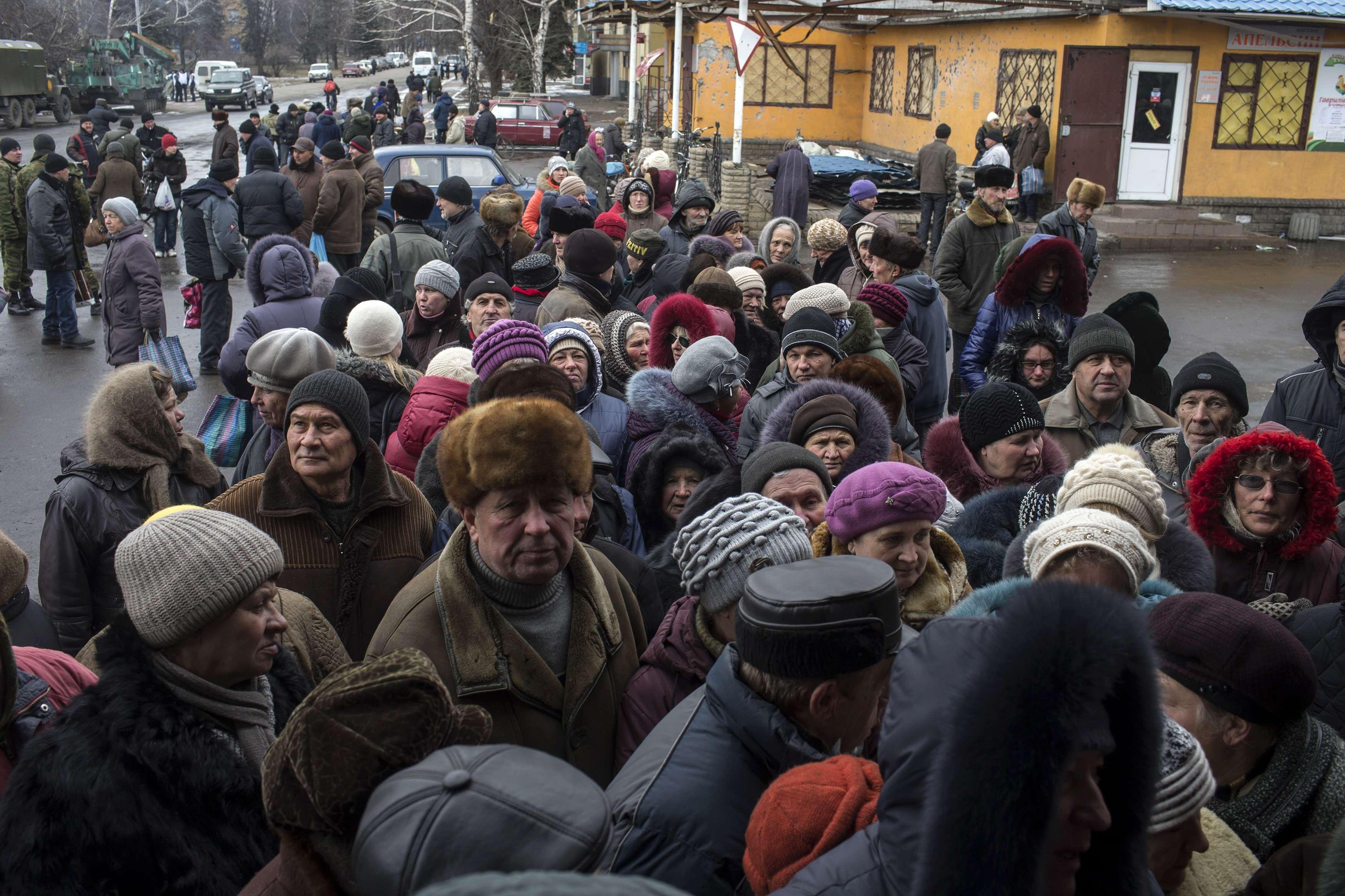 Жители оккупированных территорий Донбасса, иллюстрация