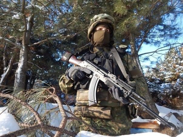 Украинский боец на передовой, иллюстрация