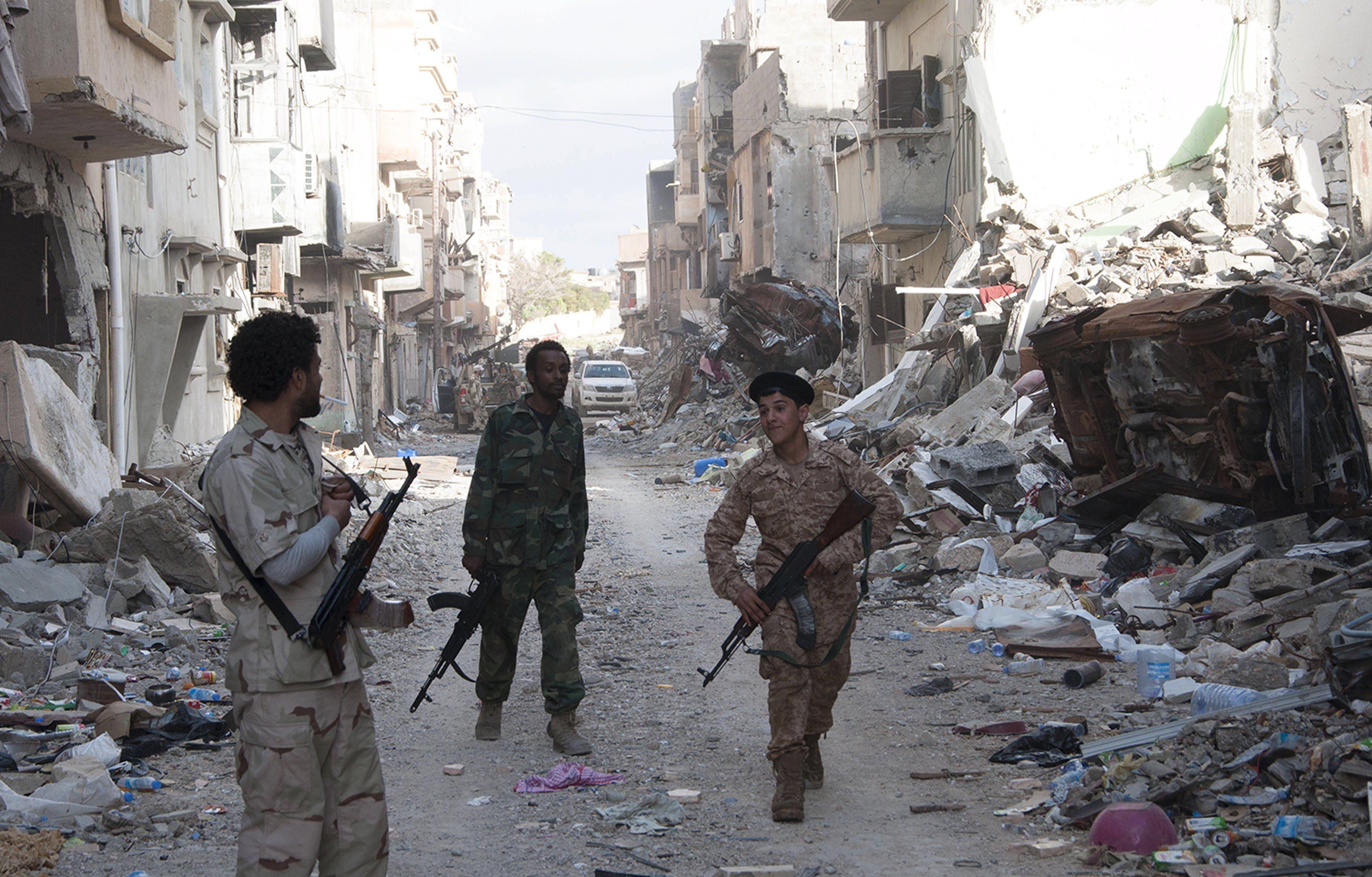 Члены ливийских проправительственных сил, иллюстрация