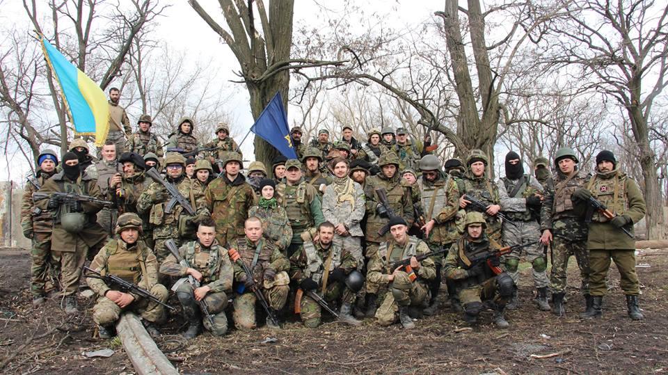 Добровольцы батальона ОУН в Песках
