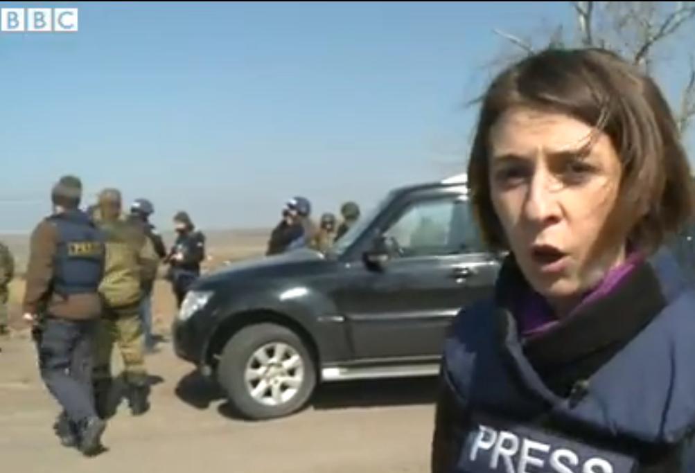 Журналист британской ВВС на Донбассе, иллюстрация