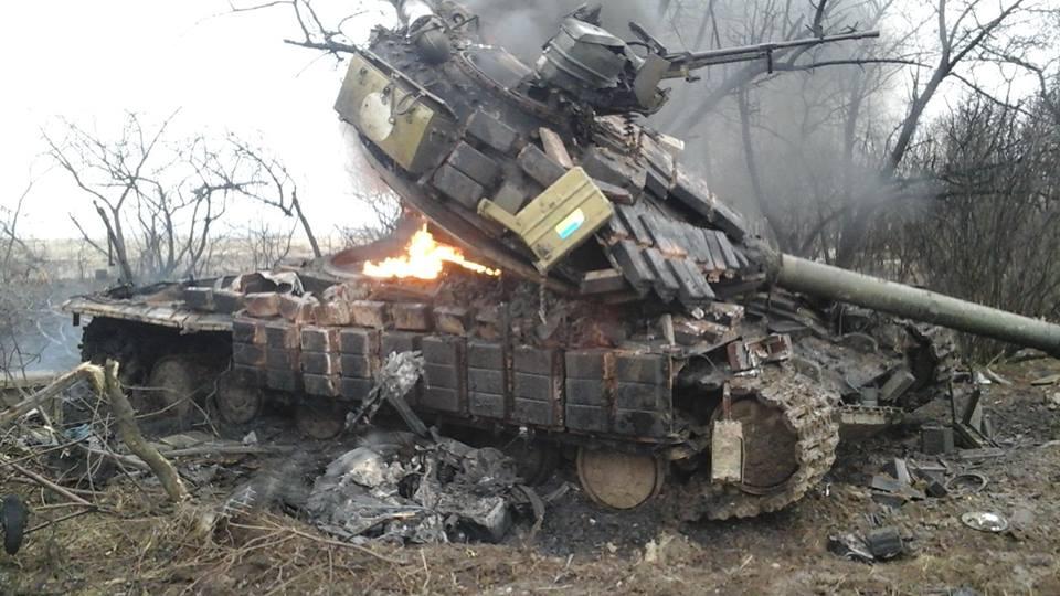 Горящий танк, иллюстрация