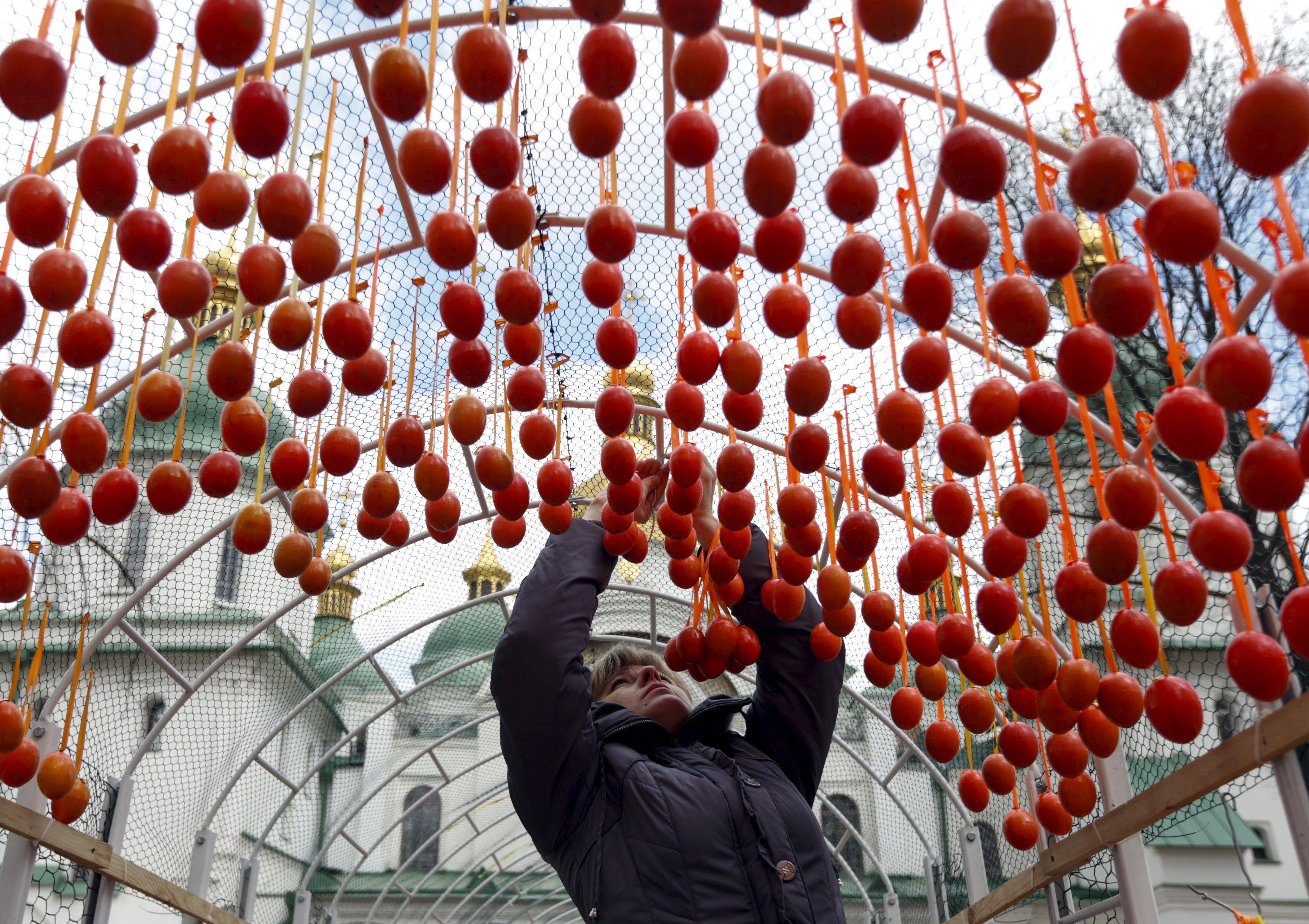 Фестиваль писанок открылся на Софийской площади