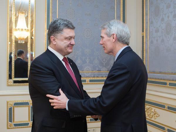 Петр Порошенко и Роб Портман