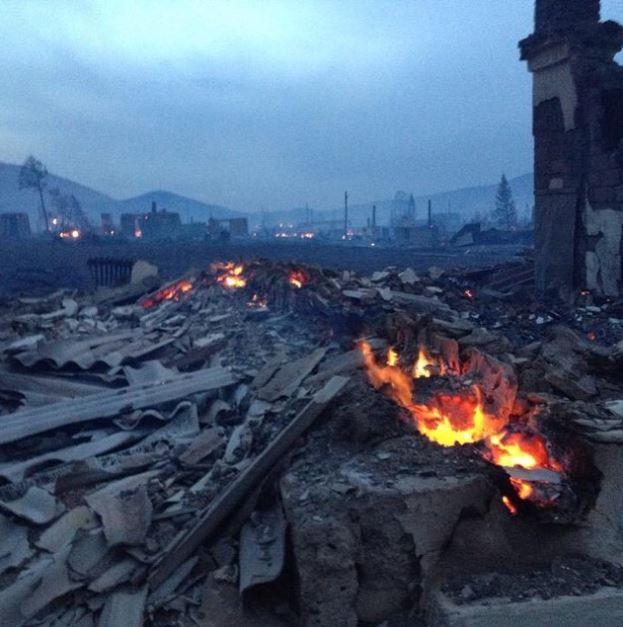 Пожар в Хакасии, иллюстрация