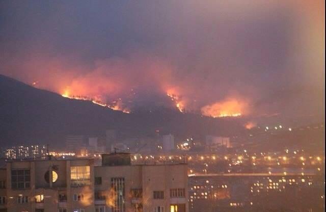Масштабный пожар в России, иллюстрация