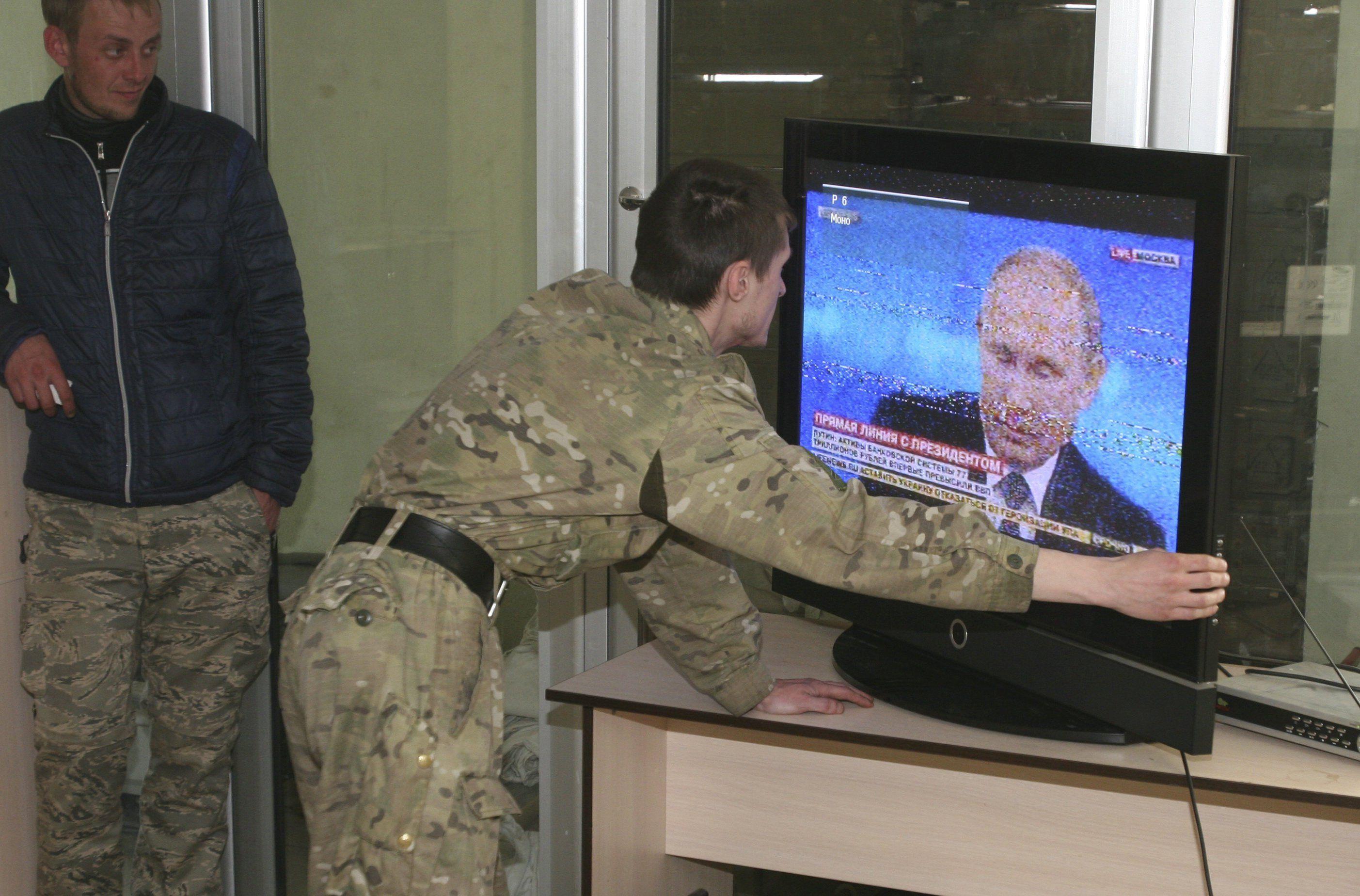 Боевик на Донбассе во время