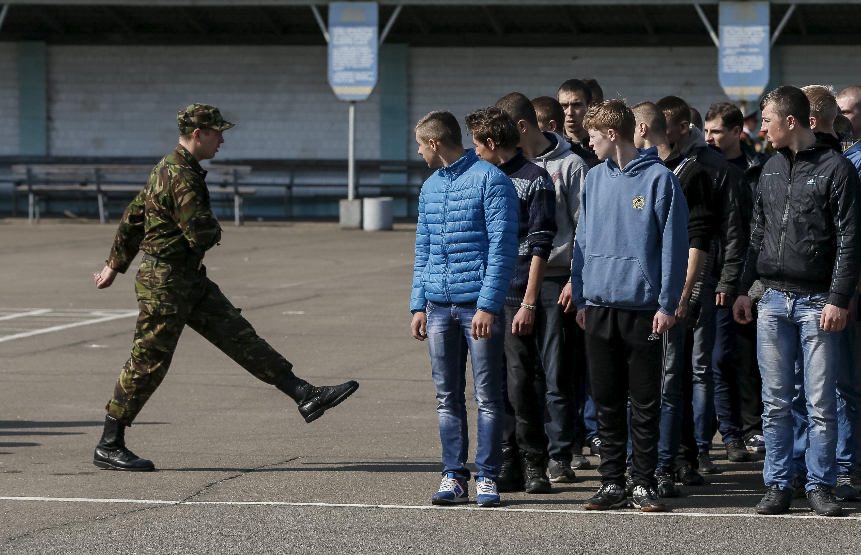 Мобилизованные украинцы, иллюстрация