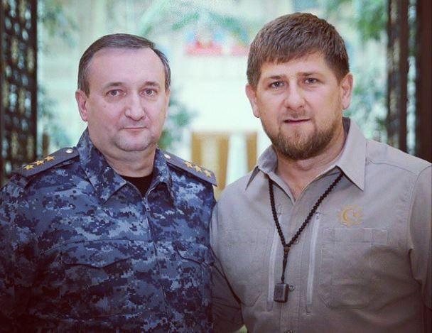 Начальник ГУ МВД РФ по СКФО Сергей Ченчик и Рамзан Кадыров