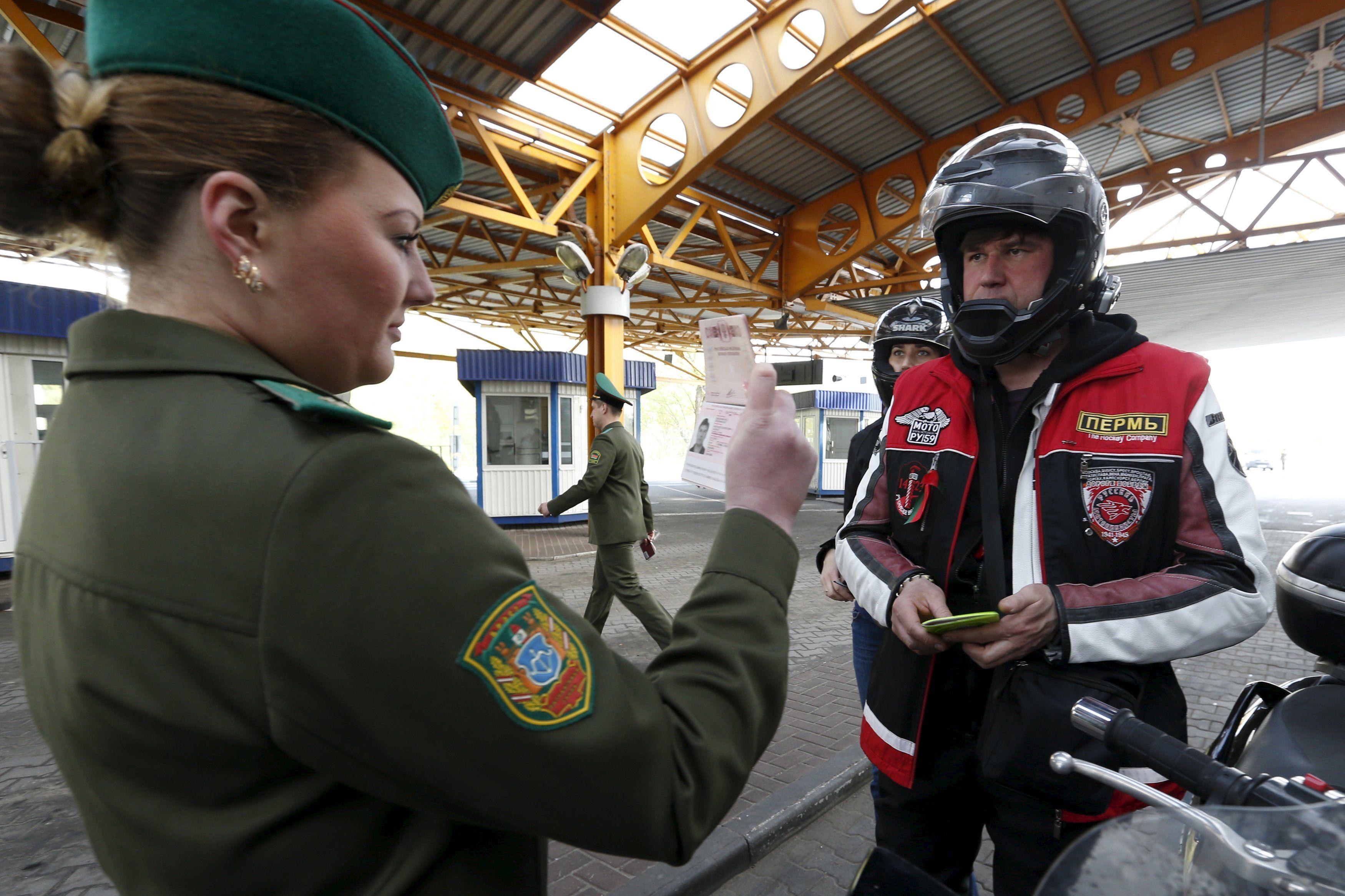 Байкеры на границе Беларуси с Польшей, иллюстрация