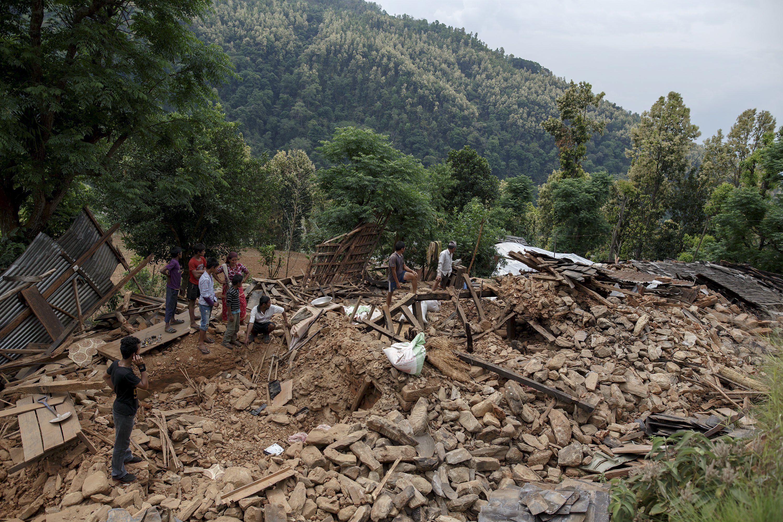 Последствия землетрясения в Непале, иллюстрация
