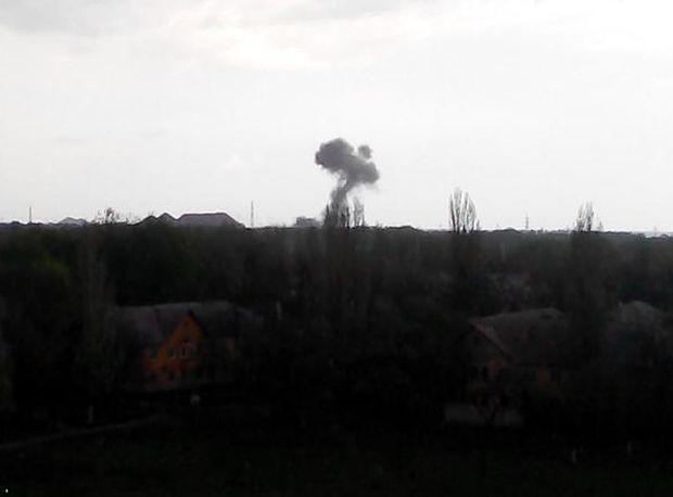 Взрыв в Донецке, фото очевидцев