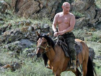 Владимир Путин в Туве, иллюстрация
