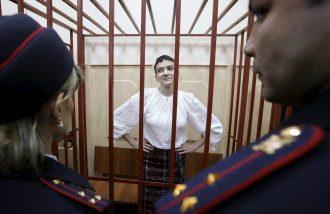 Надежда Савченко в суде, иллюстрация