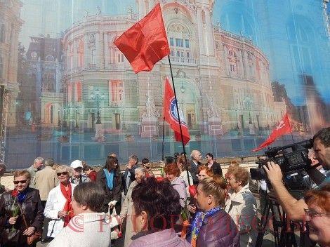 Праздничный митинг в Одессе.