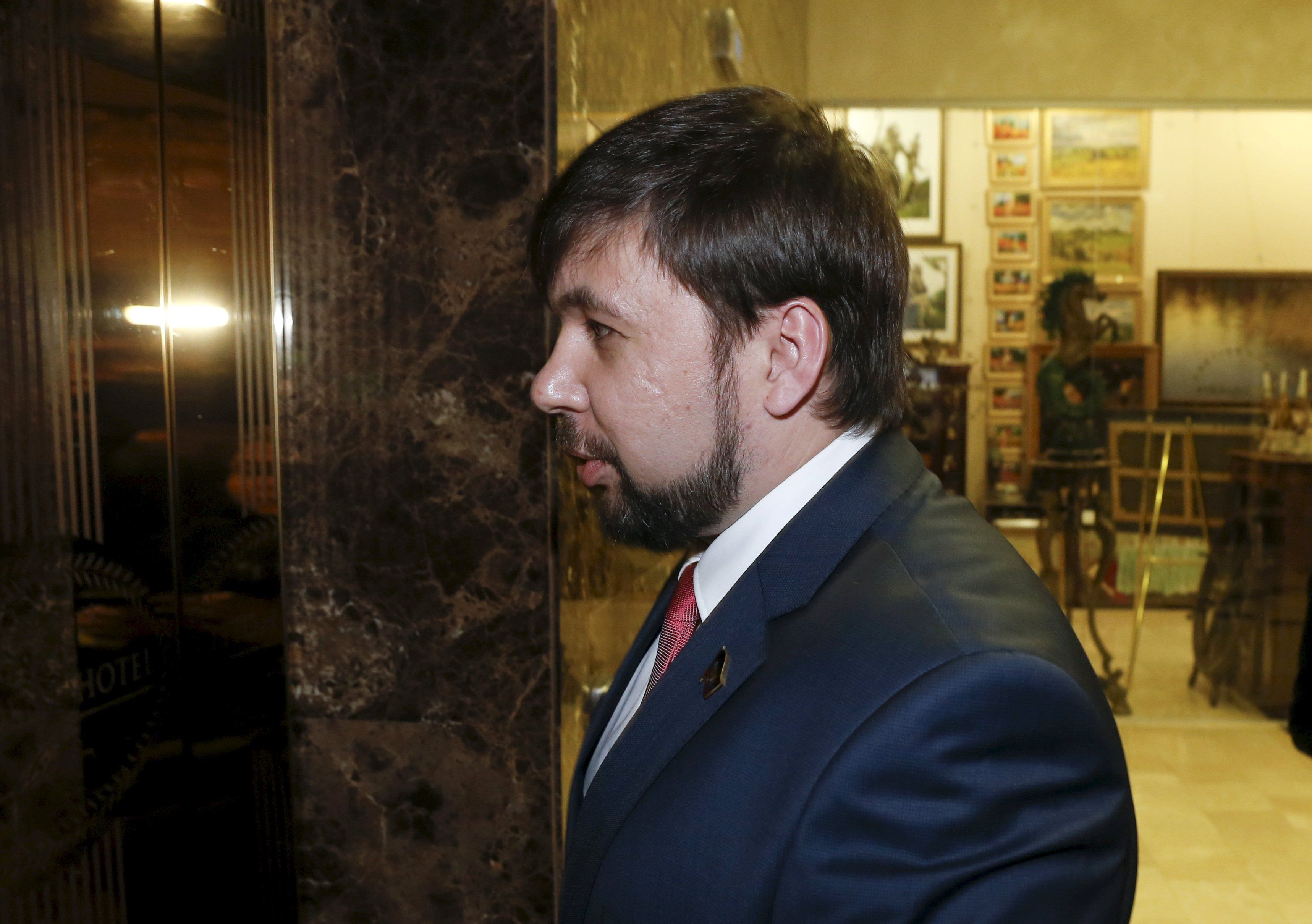 Представитель боевиков Денис Пушилин прибыл на переговоры в Минск