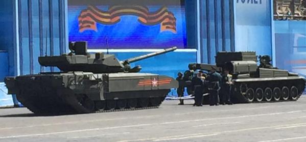Т-14 перед эвакуацией с Красной площади