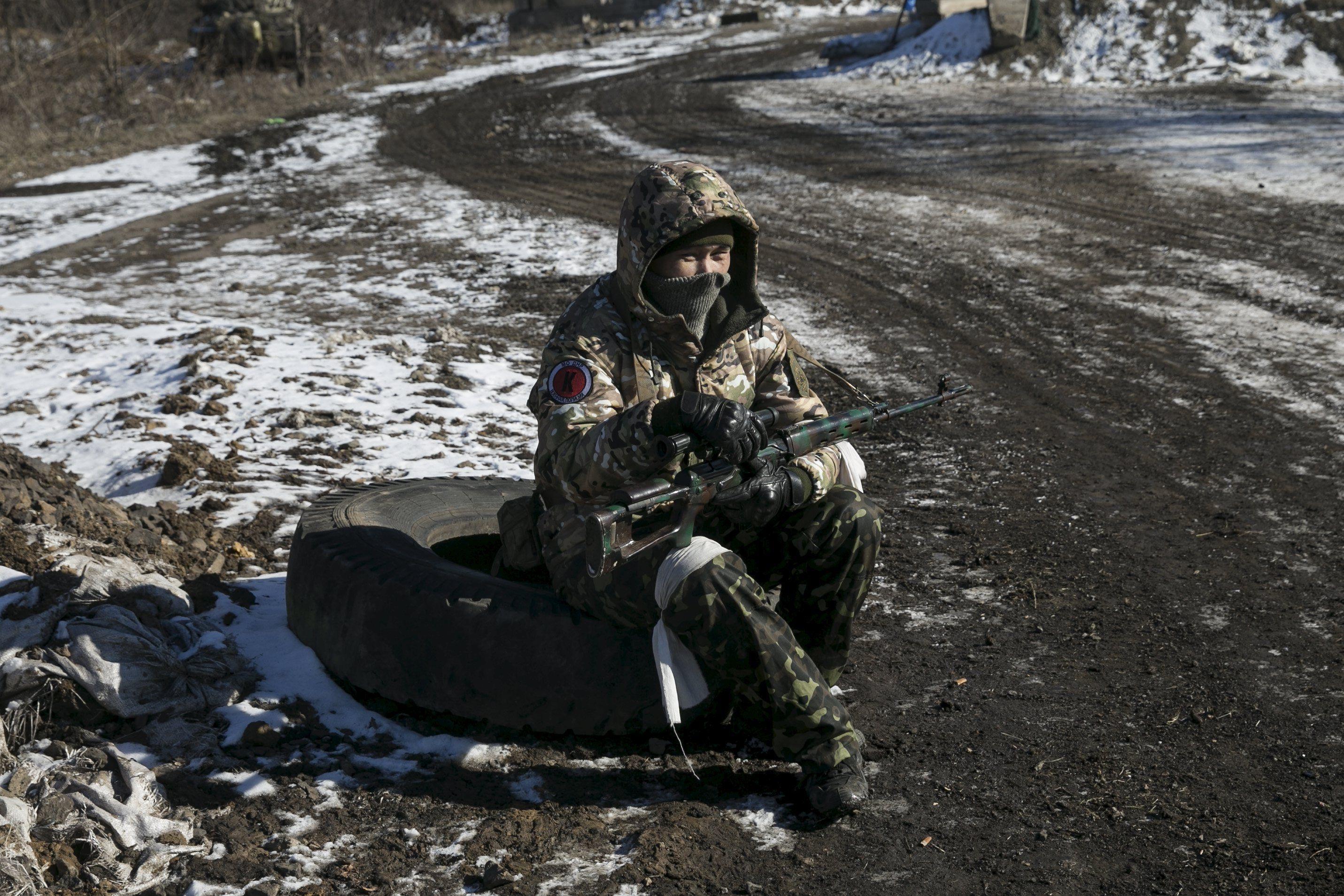 Боевик в Дебальцево, иллюстрация