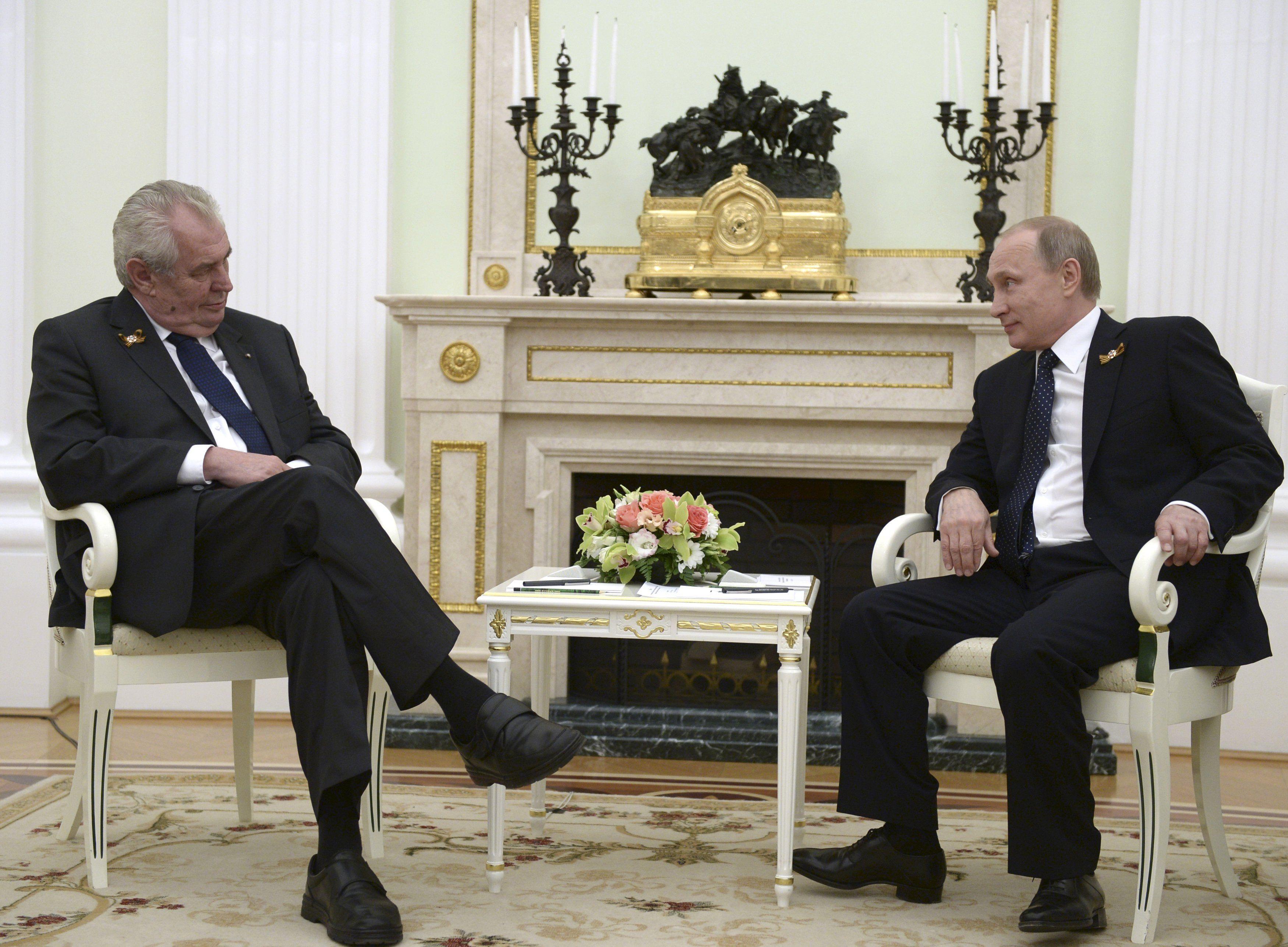 Владимир Путин и Милош Земан