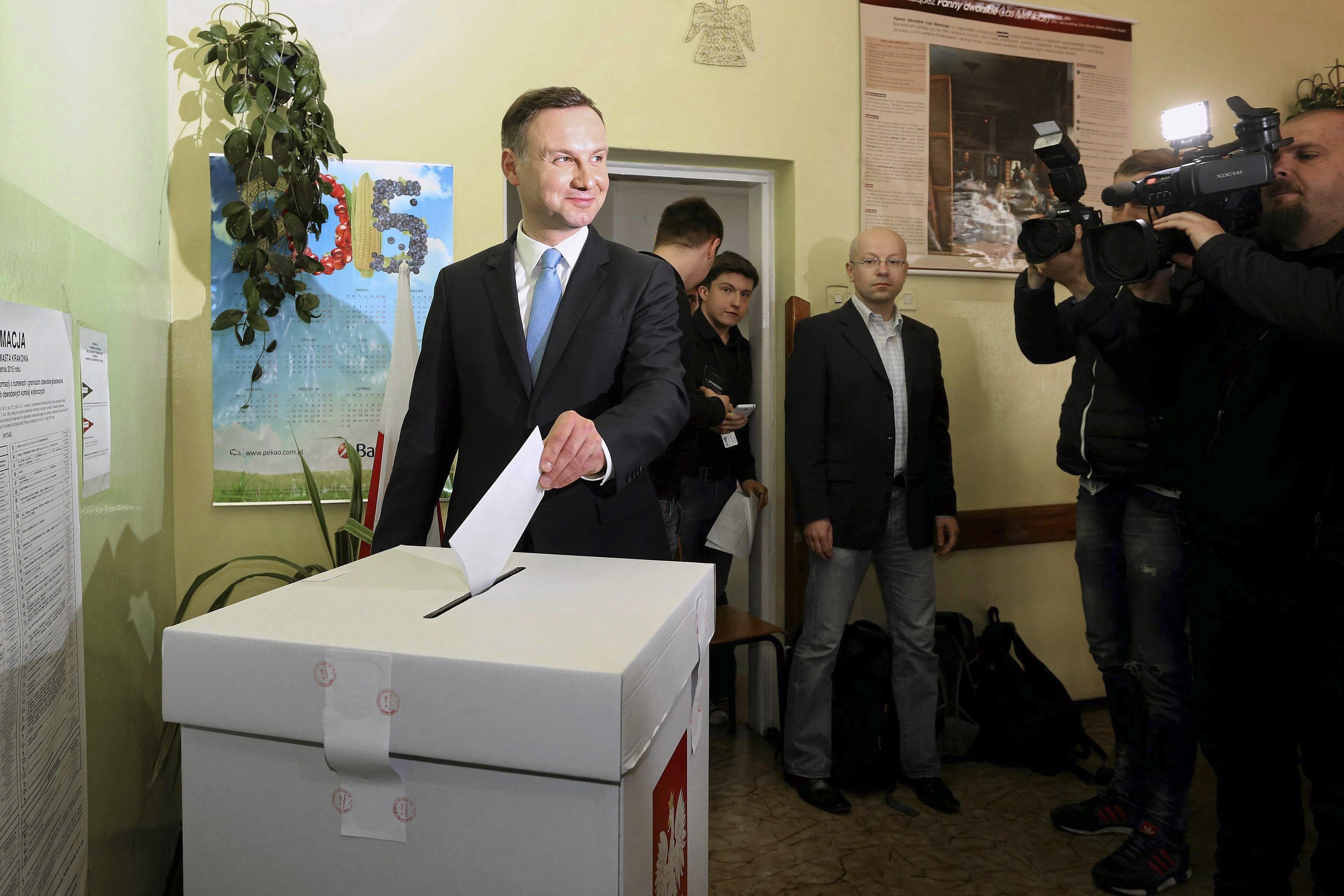 Оппозиционный кандидат Анджей Дуда