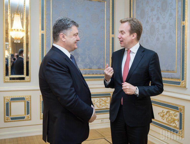 Петр Порошенко и Борге Бренде