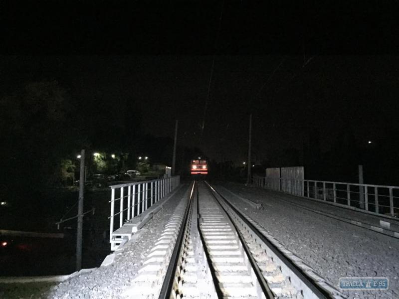 Взрыв на Одесской железной дороге, иллюстрация.