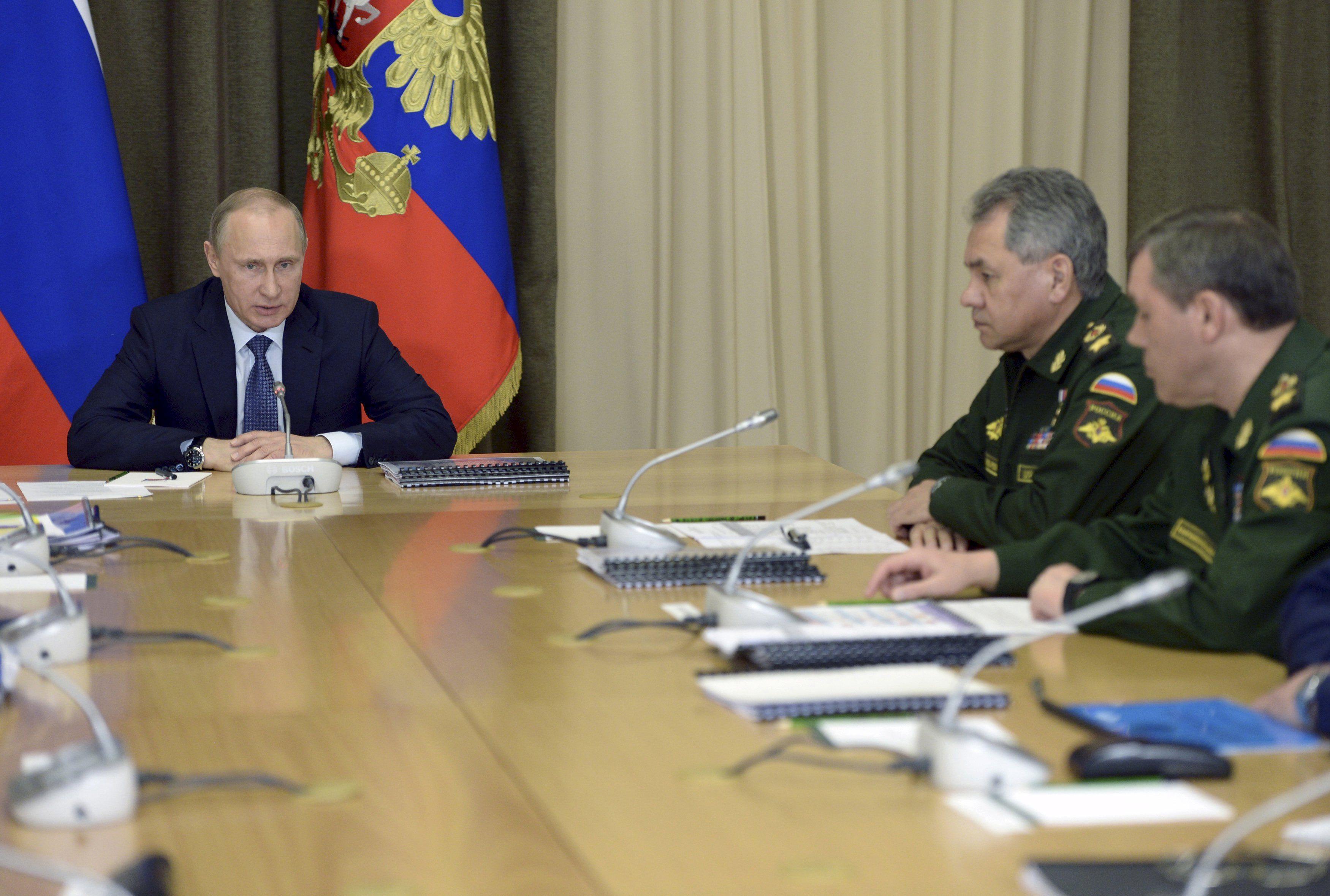 Путьин встречается с министром Сергеем Шойгу, иллюстрация