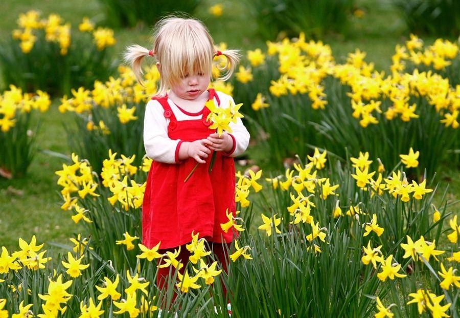 весна, ребенок