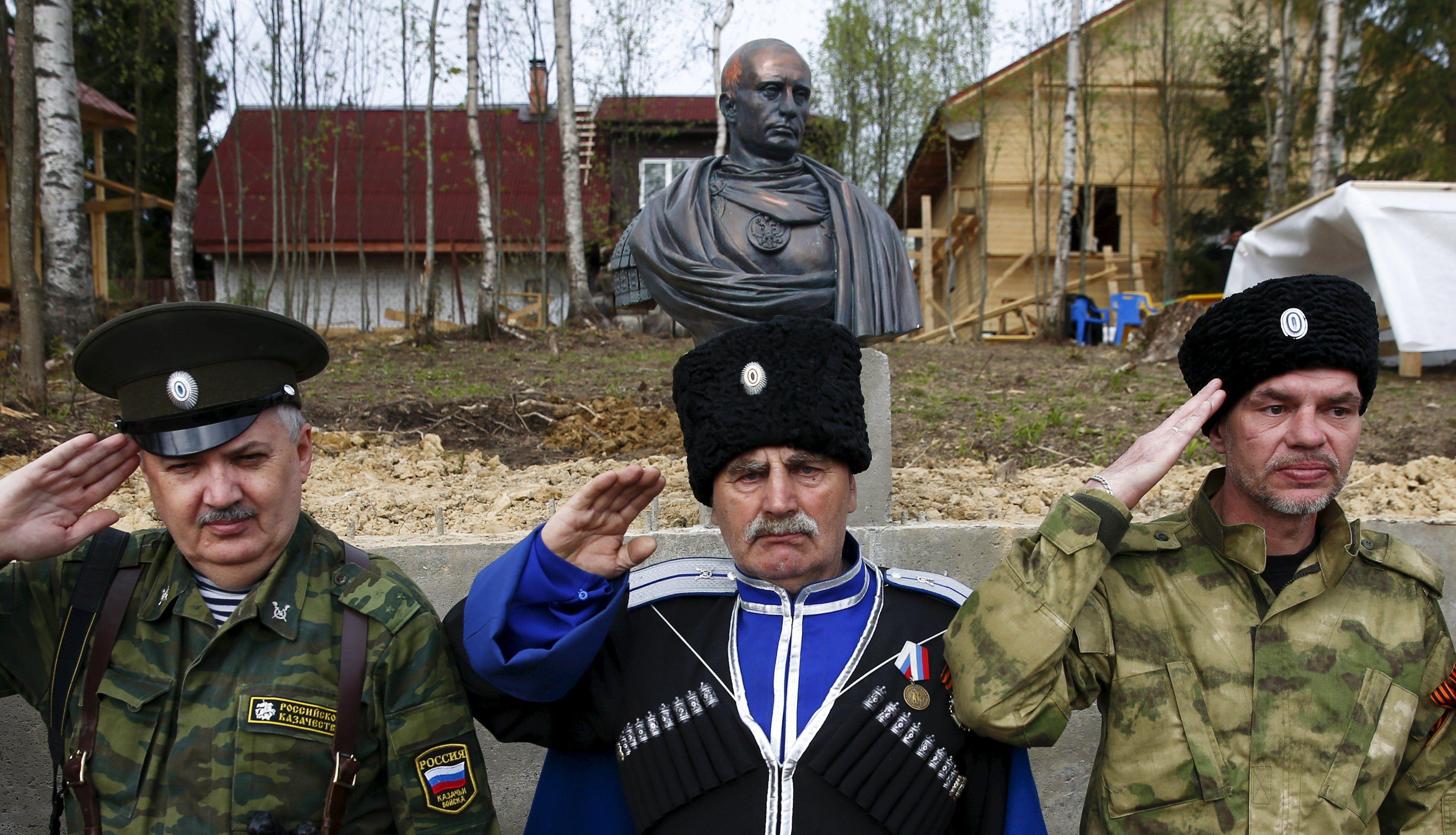 Бюст Путина в Ленинградской области