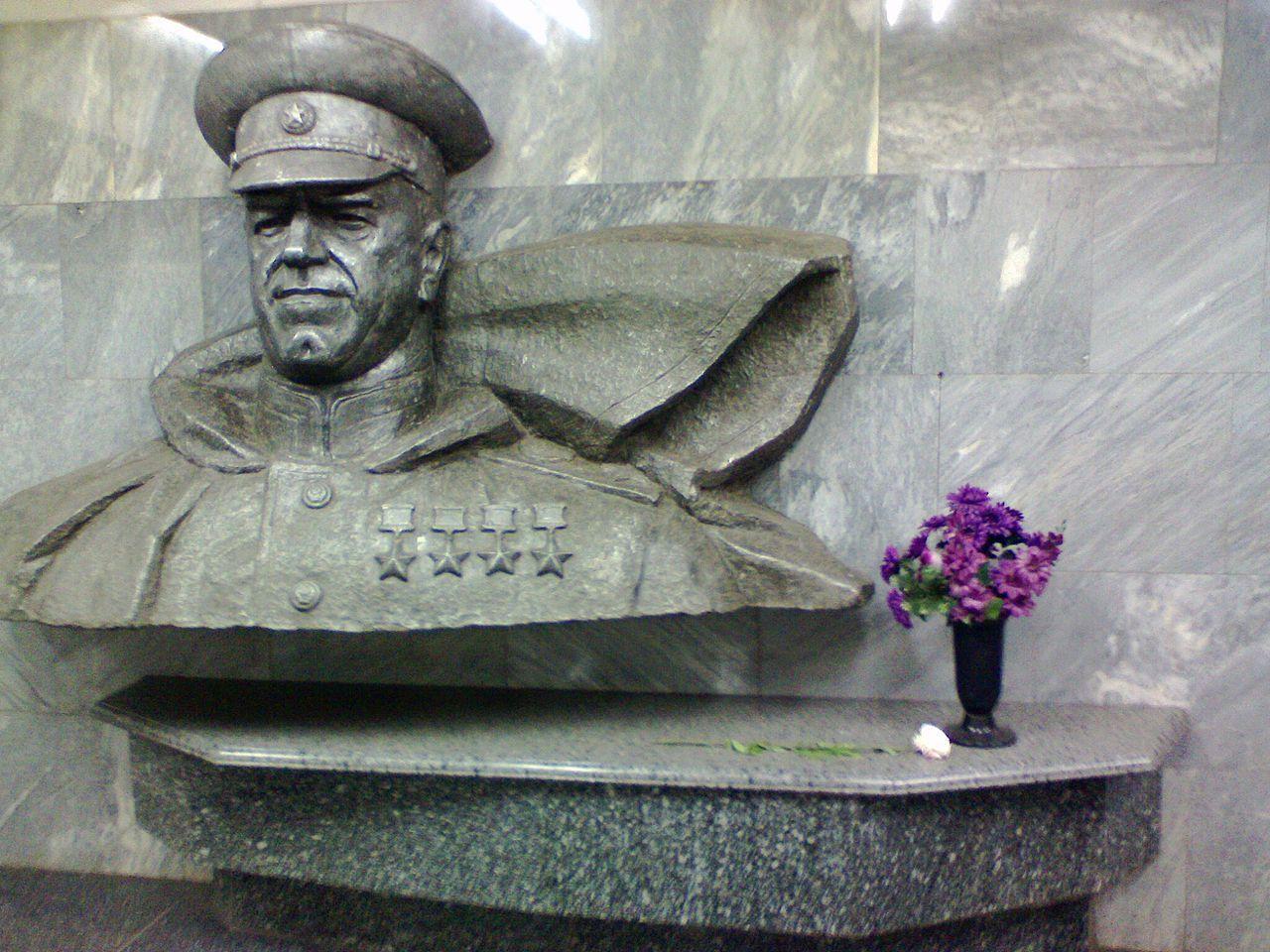 Бюст Жукова в Харькове, иллюстрация