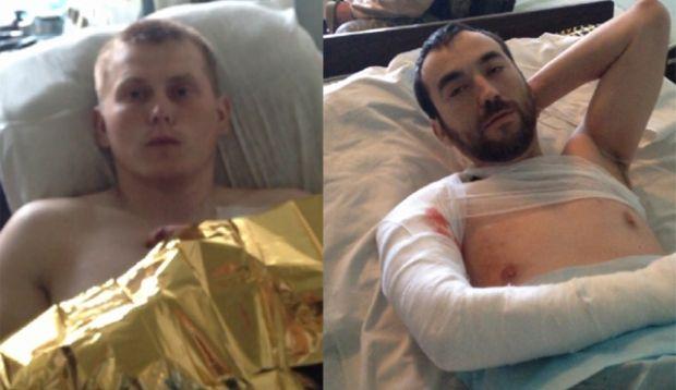 Россияне были взяты в плен после ранений