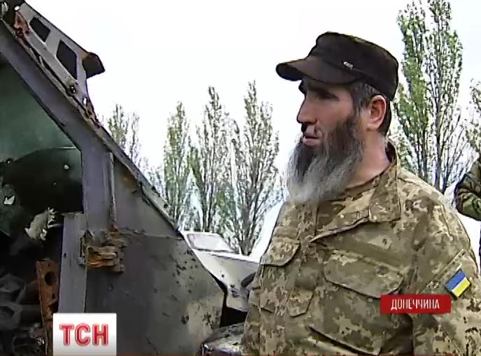 Командир чеченского подразделения Муслим