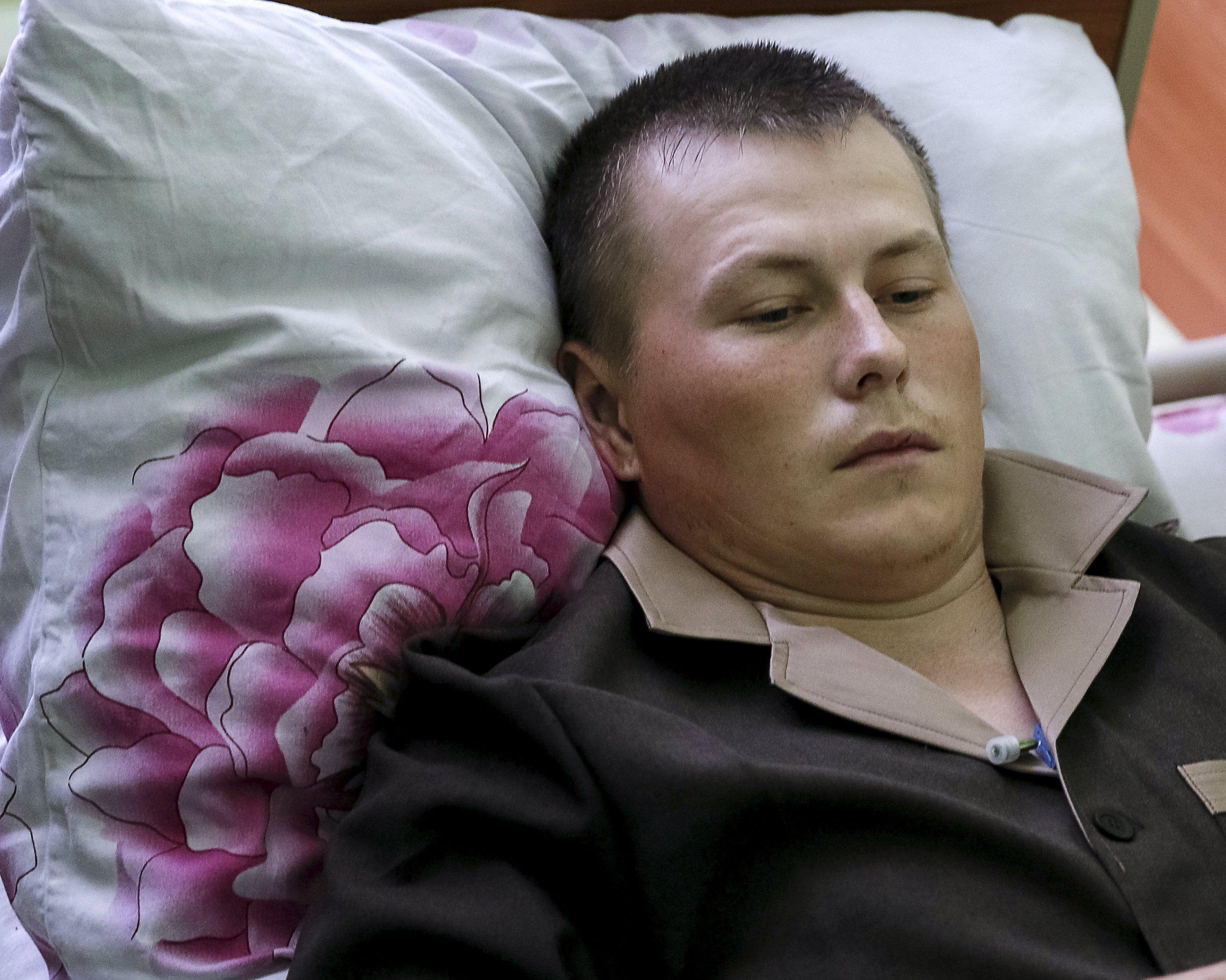 Один из пленных российских спецназовцев, иллюстрация