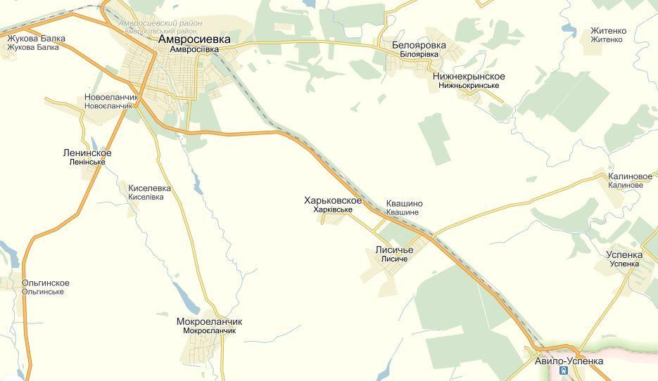 Карта возможной местности боя